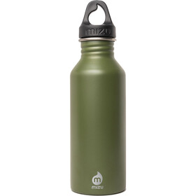 MIZU M5 Bidon with Black Loop Cap 500ml oliwkowy